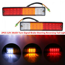 2x 12V 20LED Car Truck Tail Indicator Lights Turn Signal Reverse Brake Rear Lamp