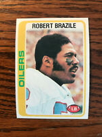 1978 Topps #337 Robert Brazile Football Card Houston Oilers NFL Raw