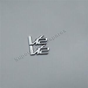 Aston martin V12 Metal Emblem Badge Kit Brand New