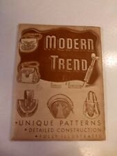Modern Trend Robert Littleton 5 PatternsHandbags LeatherCarving Craftool 1949 40