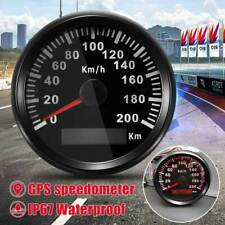 200KM/H GPS Speedometer Digital Gauge Car Motorcycle Marine Odometer Waterproof