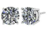NANA Swarovski Zirconia CZ Sterling Silver Stud Earrings Hypoallergenic Posts