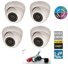 4x HD-CVI 1080p 2.4MP Motorized Zoom Auto Focus 2.8-12mm VF Dome Camera 4 in one