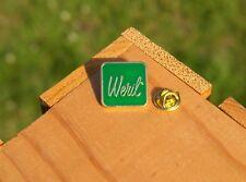 Weril Green Enamel & Gold Tone Metal Lapel Pin Pinback Musical Instruments