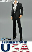 """1/6 Women Business Career Suits BLACK For 12"""" Hot Toys PHICEN TBL Figure U.S.A"""