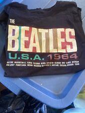 The Beatles USA 1964 T-Shirt Black Sz Large EUC!