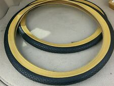 2 NEW DURO BEACH CRUISER BICYCLE TIRES 26X2.125,SMALL BRICK PATTERN,GUMWALL