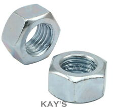 Hexagon Full Nuts Bright Zinc Plated BZP Grade 8, Standard Metric Threads DIN934