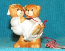 Vintage Nos Lucy & Me Groom Holding Bride Wedding Bear Figurine,Cake Topper