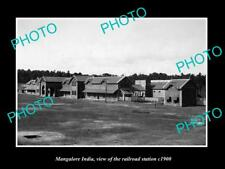 OLD LARGE HISTORIC PHOTO OF MANGALORE INDIA VIEW OF THE RAILROAD STATION c1900