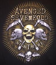 Large Black Music Band TShirt Avenged Sevenfold Logo Nightmare Amazing Artwork