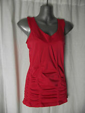 BNWT Womens Sz 14 Bella B Wear Designer Label Cute Melon Gathered Top RRP $60