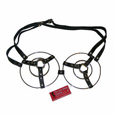 TheSexShopOnline - Stainless Steel Metal 3 Ringed Fantasy Bondage Bra Restraint