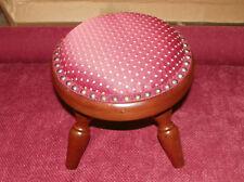 Round Mahogany Footstool Stool (St123)