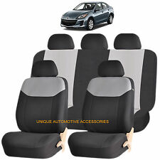 GRAY ELEGANT AIRBAG COMPATIBLE SEAT COVER SET for MAZDA 3 5 CX7