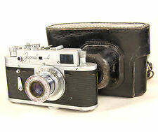 Vintage USSR Photo camera ZORKI 4 based Leica with cover 68011228