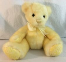 First & Main Sherbet Baby Yellow Bear Plush 1625 Sits 9 Inches Tall