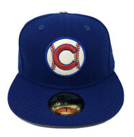 Chicago Cubs Fitted New Era 59Fifty Blue Red And White Hat Size 7 1/2 MLB NWT!