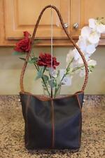 vintage BOTTEGA VENETA MARCO POLO Leather PVC bucket Shoulder bag (pu150