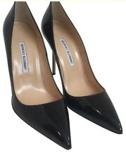 Manolo Blahnik Shoe Black Patent Pump New Size 40 1/2