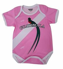 Guatemala Soccer Pink Baby Outfit Jumpsuit Mameluco Size 3 to 12 months