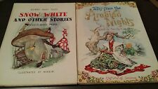 Grimms' Fairy Tales Snow White Arabian Nights Shirley Goulden 2 Book Lot