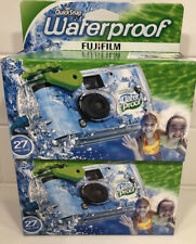 2x FujiFilm Disposable Cameras QuickSnap Waterproof Pool Underwater 35mm 08/2021
