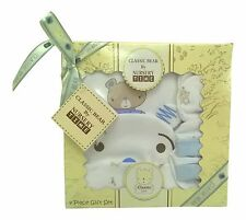 Baby Shower Gift - 4 Piece Baby Boy Clothes Set Blue Boxed 0/3 Months