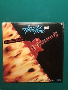 April Wine Walking Through The Fire Vinyl LP With Hype Sticker On Cover 1985
