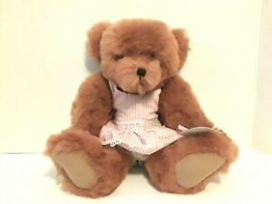 """Annette Funicello Collectible Bear Co Jointed Teddy Bear In Pink White Dress 13"""""""