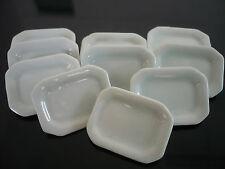 10 White Rectangle  Plate Dollhouse Miniatures Ceramic Supply Deco