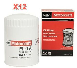12 Engine Oil Filters Genuine FORD MOTORCRAFT FL1A Replace OEM # 5L8Z19D734EA