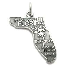 925 Sterling Silver Florida State Charm
