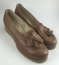 VTG Womens Therapeutic Diabetic Extra Depth Shoes Tassle Kilte Loafers Tan 10.5B