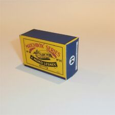 Matchbox Lesney 14 a Daimler Ambulance empty Repro B style Box