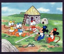 LESOTHO 1991 TUG-OF-WAR DISNEY MICKEY ANIMATION CARTOONS STAMPS MNH