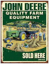 Metal Tin Sign john deere farm equipment Pub Home Vintage Retro Poster Cafe ART