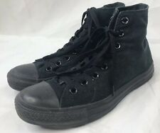 Converse All Star All Black Canvas Lace Up Hi Top Shoes Men's Size 7 Women's 9