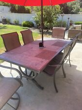 Great Patio Set. Relatively New. Comes With Solar Umbrella With Led lights.