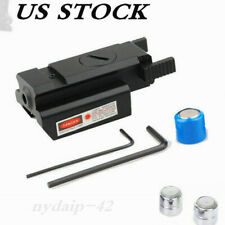 Us Red Dot Laser Sight Low Profile Picatinny Rail 20mm For Rifle Pistol Gun