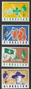 Gibraltar 1968 SC #209-12 60th Anniversary of Boy Scouts in Gibraltar - MLH(S35)