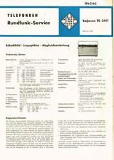 Telefunken Bajazzo TS3411 Kofferradio  Schaltplan Original 1962 - 63 3411 TS