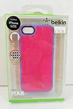 Belkin Grip Max Case for Apple iPhone SE, 5 & 5S Bubblegum Pink/Volta