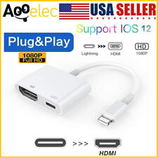 1080P HD Lightning to HDMI AV TV Adapter Converter Cable For iphone6 8 X XS ipad