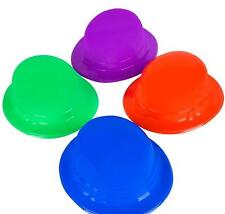 24 PLASTIC DERBY HATS Party Caps Assorted Color Mardi Gras Free Shipping New!!
