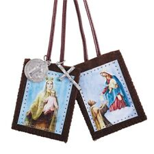 Our Lady Of Mt Carmel/St Simon Scapular With Medals (D1202) 2 Inches High