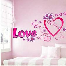 Wall Sticker Pink and Purple Heart Illustrated by Love and Flowers