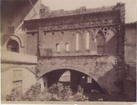 Italia Viterbo Palazzo Vintage Albumina Ca 1880 Pieghe