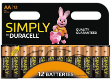 12 x AA DURACELL SIMPLY ALKALINE BATTERIES BATTERY 5000394093812 FREEPOST