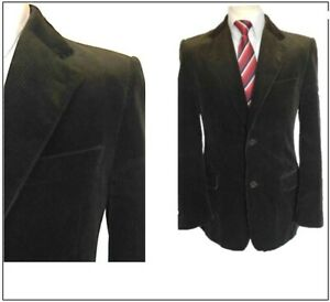 "Zara Man Mens Cotton Corduroy Jacket Blazer Ch38""S Brown"